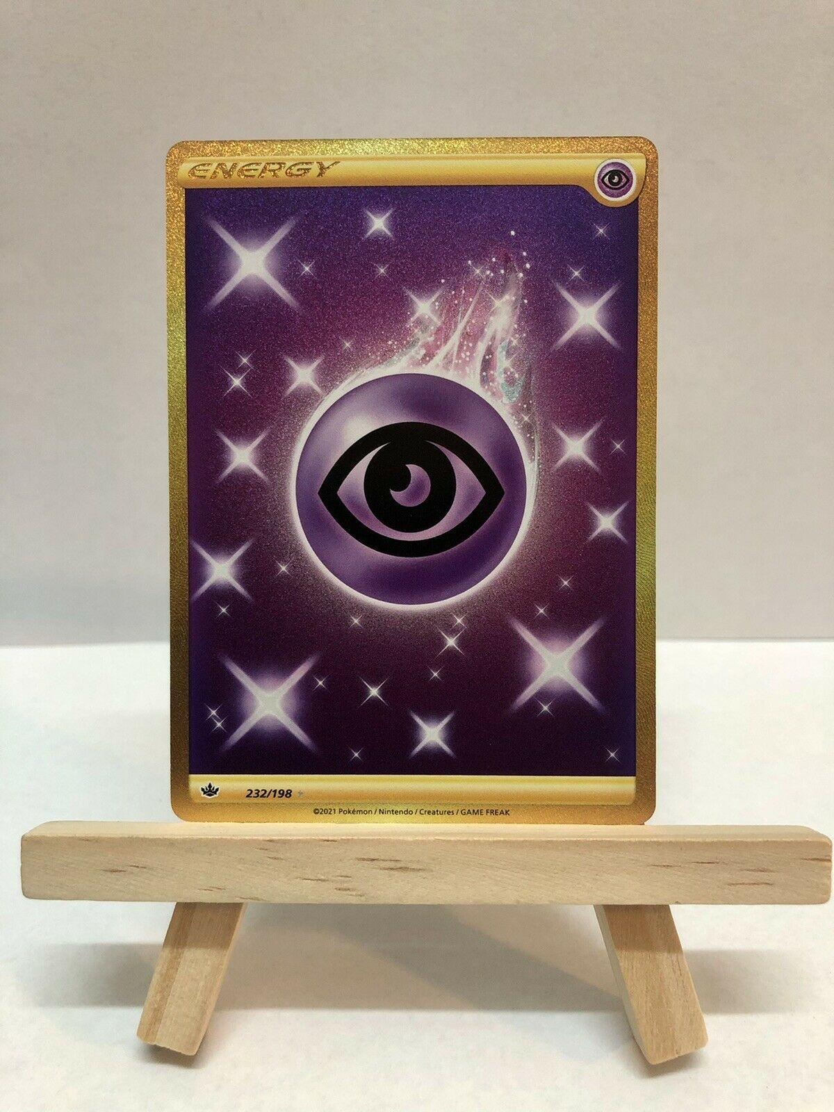 Psychic Energy - Secret Rare - NM+/M - Gold - 232/198 - Chilling Reign