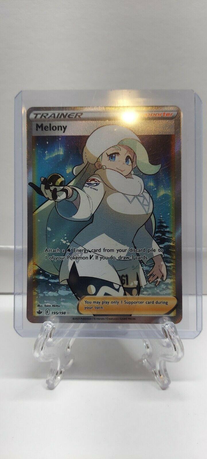Pokemon - Melony 195/198 - Full Art - Chilling Reign - NM/M