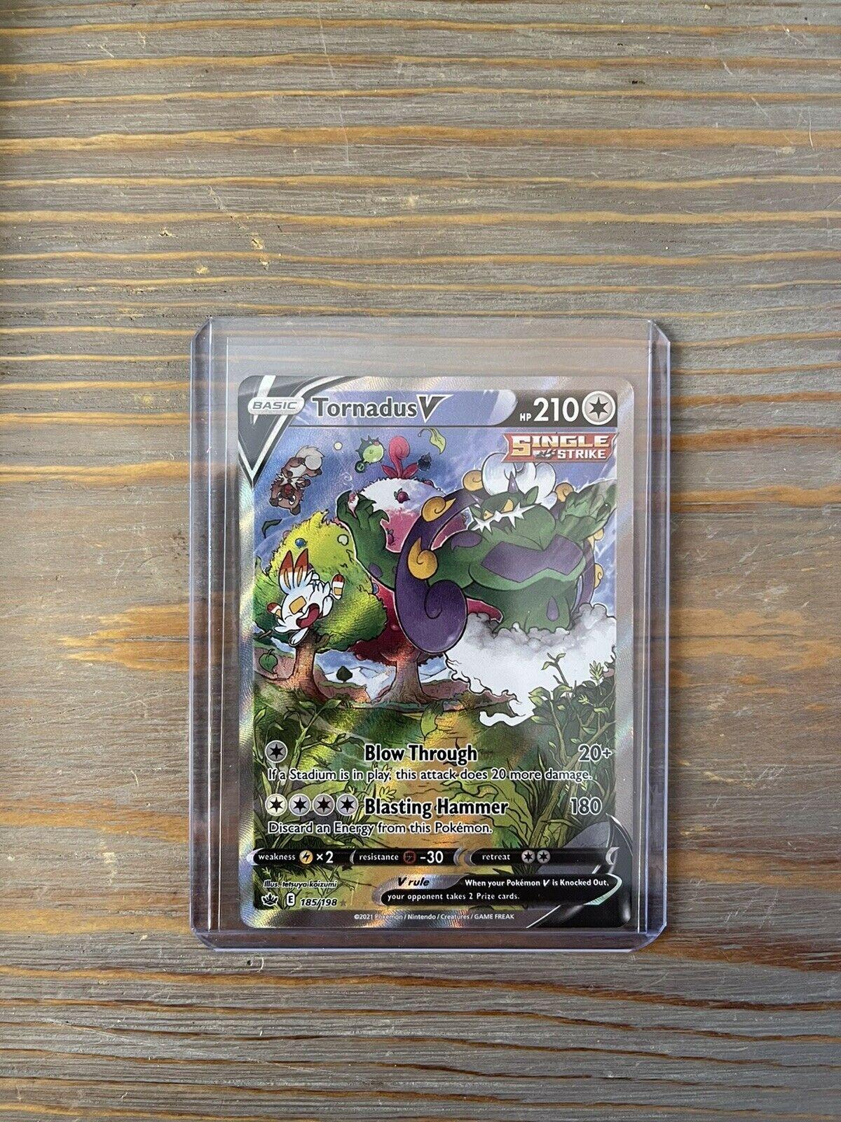 Tornadus V Alt Art 185/198 Ultra Rare Chilling Reign Pokemon TCG Near Mint