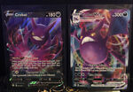 Pokemon Shining Fates Crobat VMAX Full Art Holo 045/072 and Crobat V 044/072