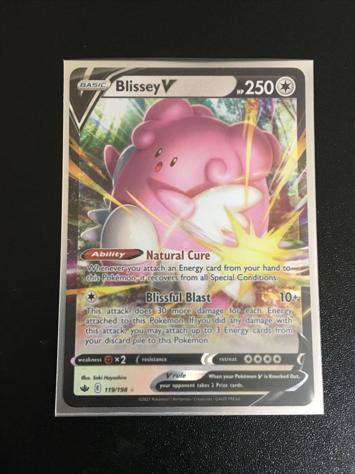 Pokemon Chilling Reign - Full Art Ultra Rare - Blissey V 119/198 NM/M - Image 1