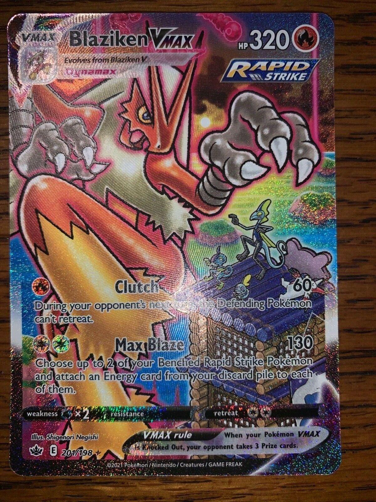 Blaziken VMAX Chilling Reign 201/198 Alternate Full Art Secret Rare NM