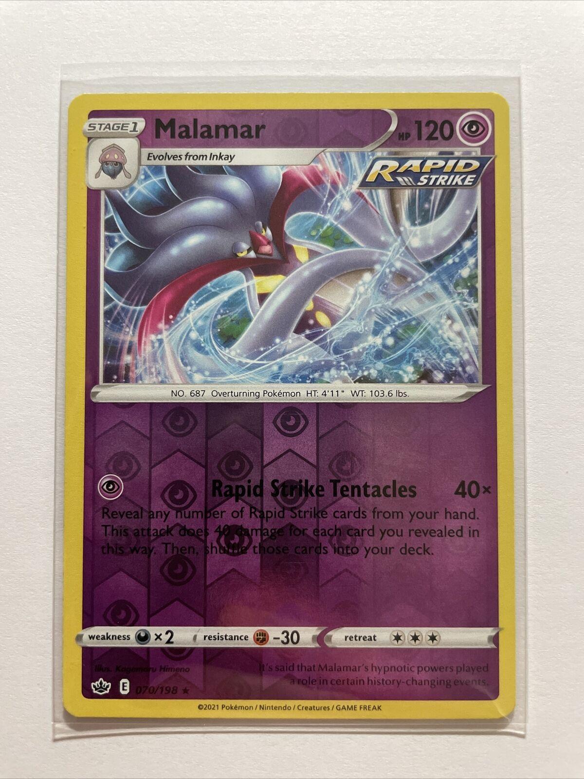 Malamar 070/198 Reverse Holo Rare Pokemon Chilling Reign - MINT