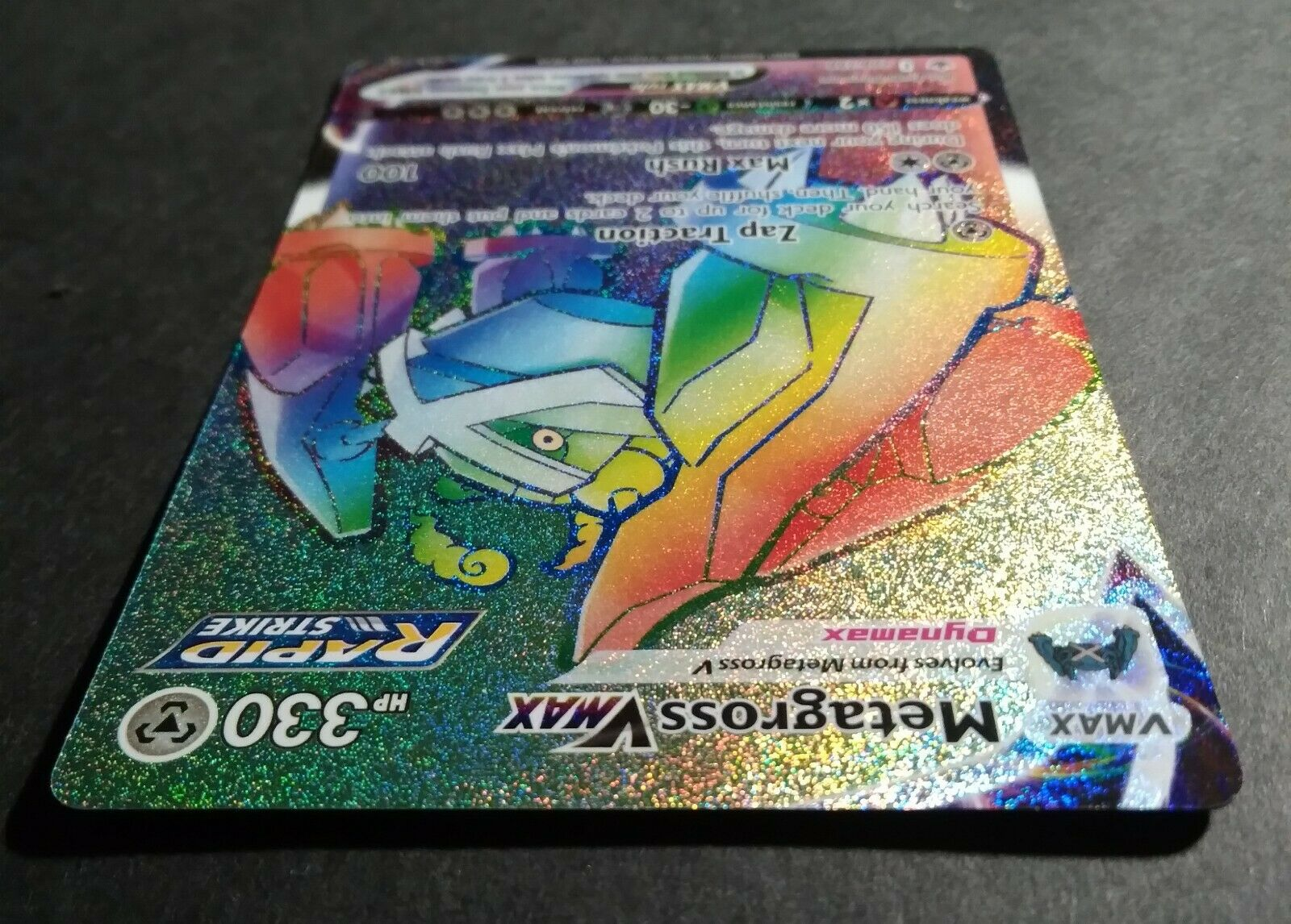 Pokemon TCG: Chilling Reign- Metagross VMAX 208/198 *Rainbow Secret Rare* - Image 2