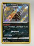 Pokemon Holo NM Shiny Galarian Weezing SV077/SV122 Shining Fates