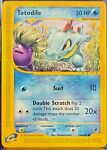 Totodile Pokemon Card - Non HOLO - Expedition Base Set 134/165 - Near Mint