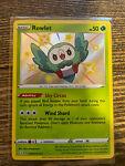 Pokemon TCG Shining Fates Rowlet - SV001/SV122 - Shiny Holo Rare Near Mint (NM)