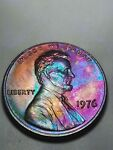 1976 P Lincoln Memorial Cent / Penny Tone / Toning