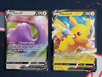 Pokemon Shining Fates 050/072 Ditto V and SWSH061 Pikachu V Promo NM Ultra Rare