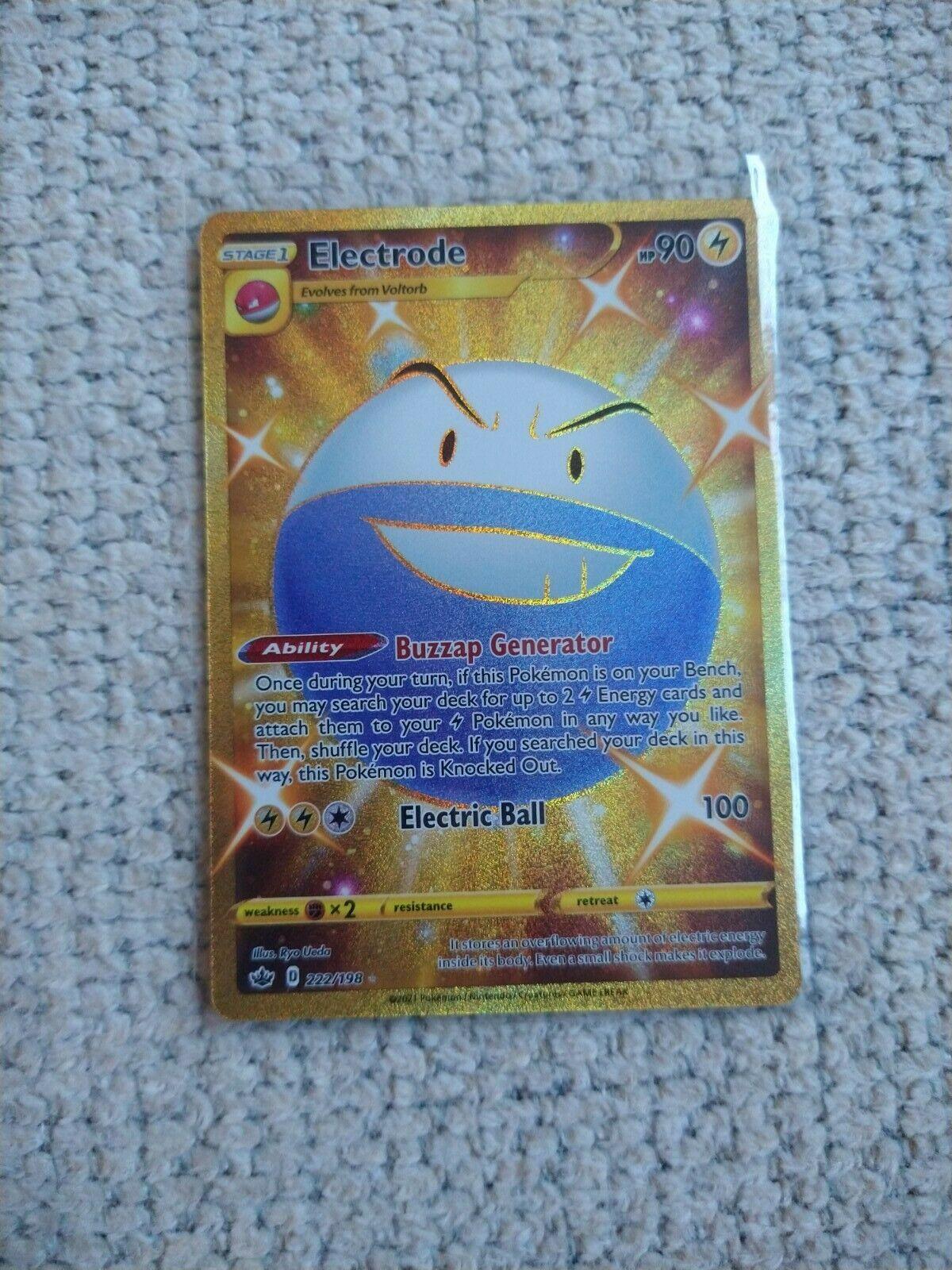 Pokémon TCG Electrode Chilling Reign 222/198 Holo Secret Rare