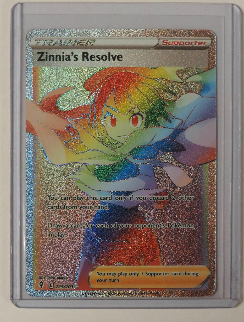 Zinnia's Resolve 2021 Pokemon Evolving Skies Full Art Trainer 225/203