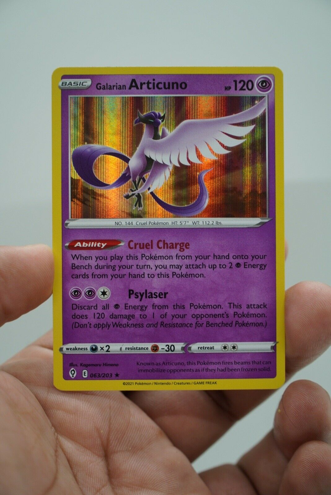 Pokemon - Galarian Articuno - 063/203 - Holo Rare - Evolving Skies - New