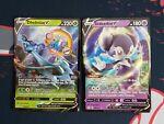 Pokemon Shining Fates 008/072 Dhelmise V and 039/072 Indeedee V Ultra Rare NM