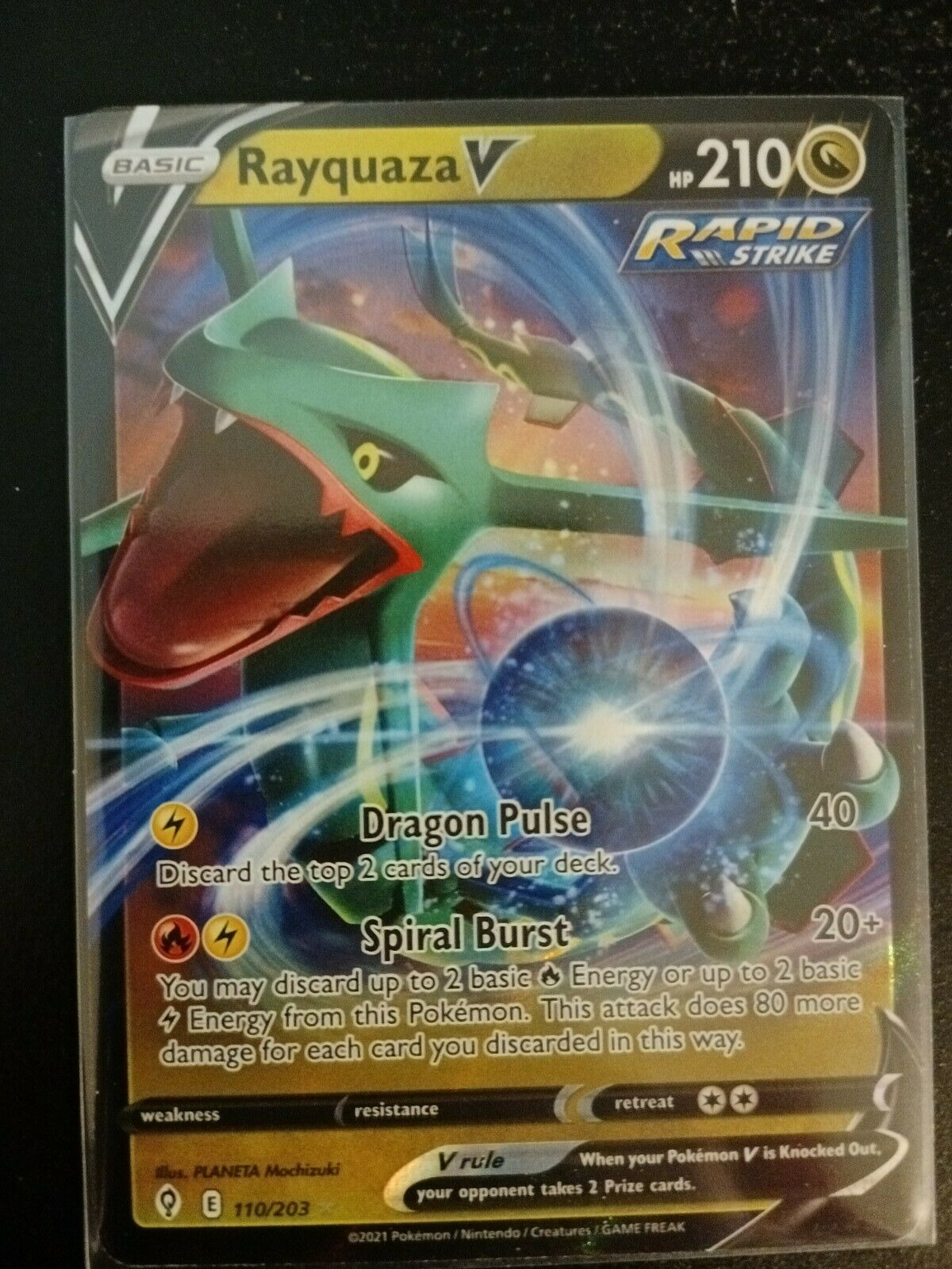 Pokemon - Rayquaza V - Evolving Skies - 110/203 - Ultra Rare NM Card