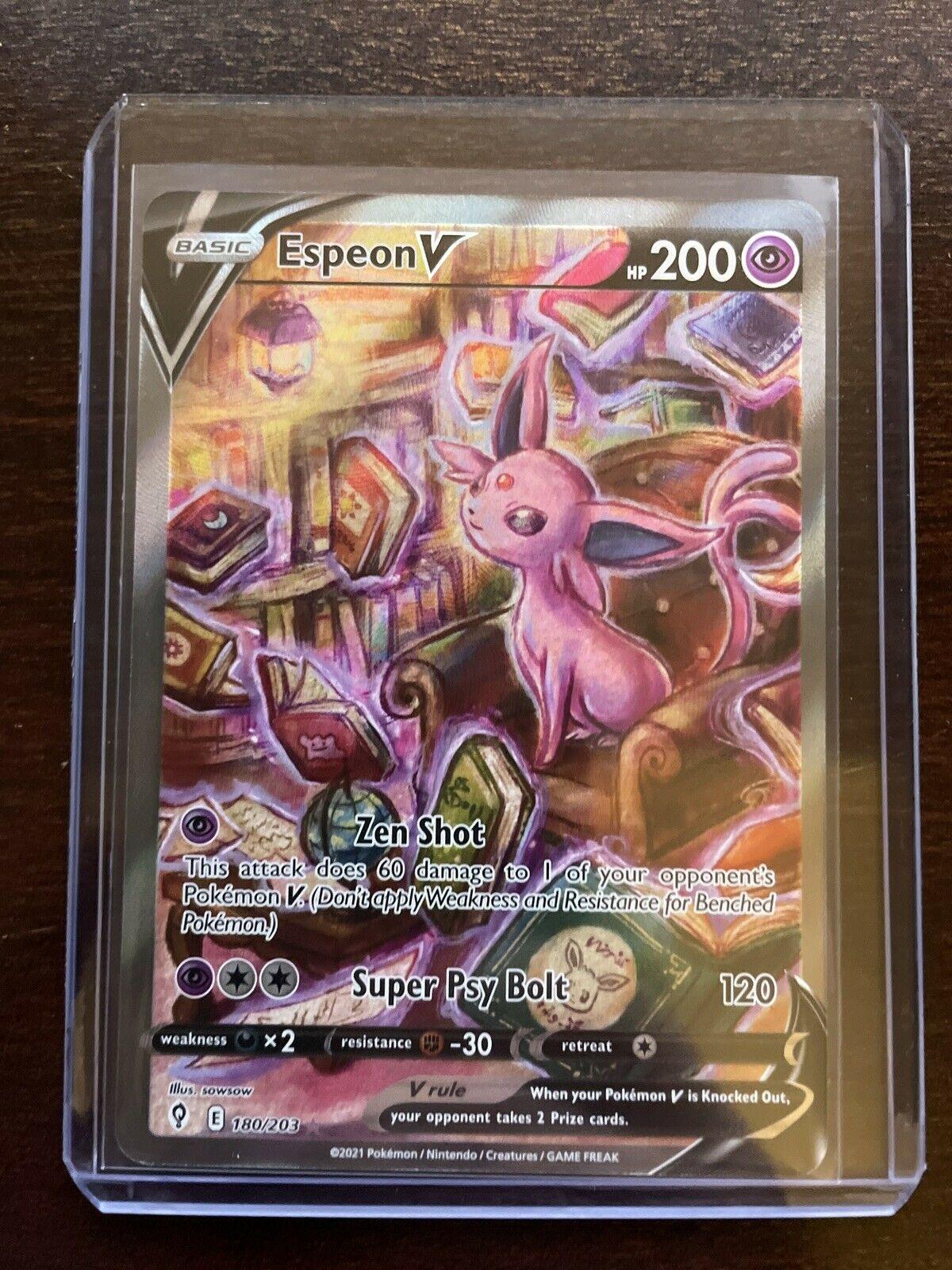 Pokemon Card Espeon V Alternate Art 180/203 Ultra Rare Evolving Skies NM