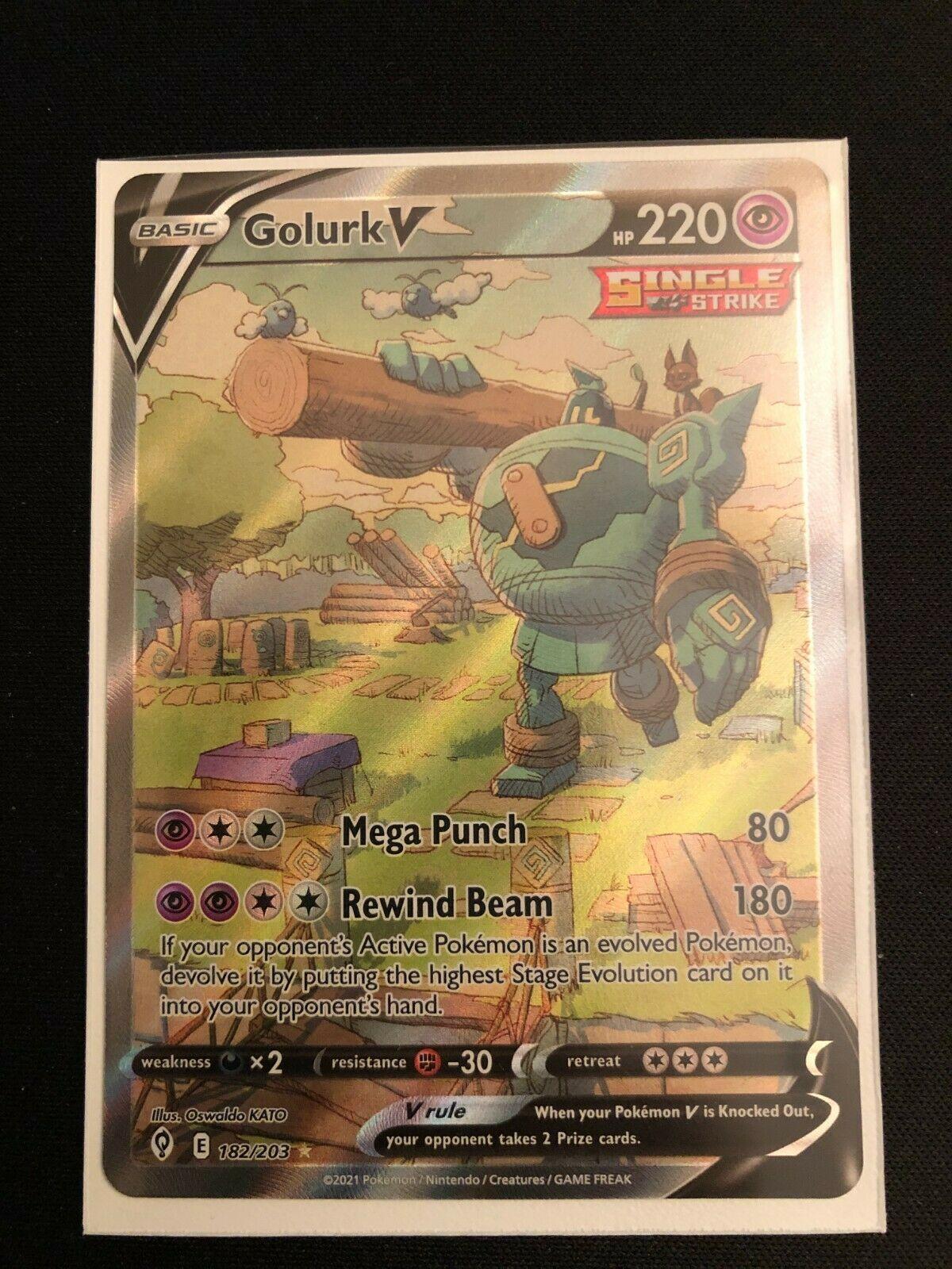 Pokemon Evolving Skies Golurk V Alternate Full Art 182/203