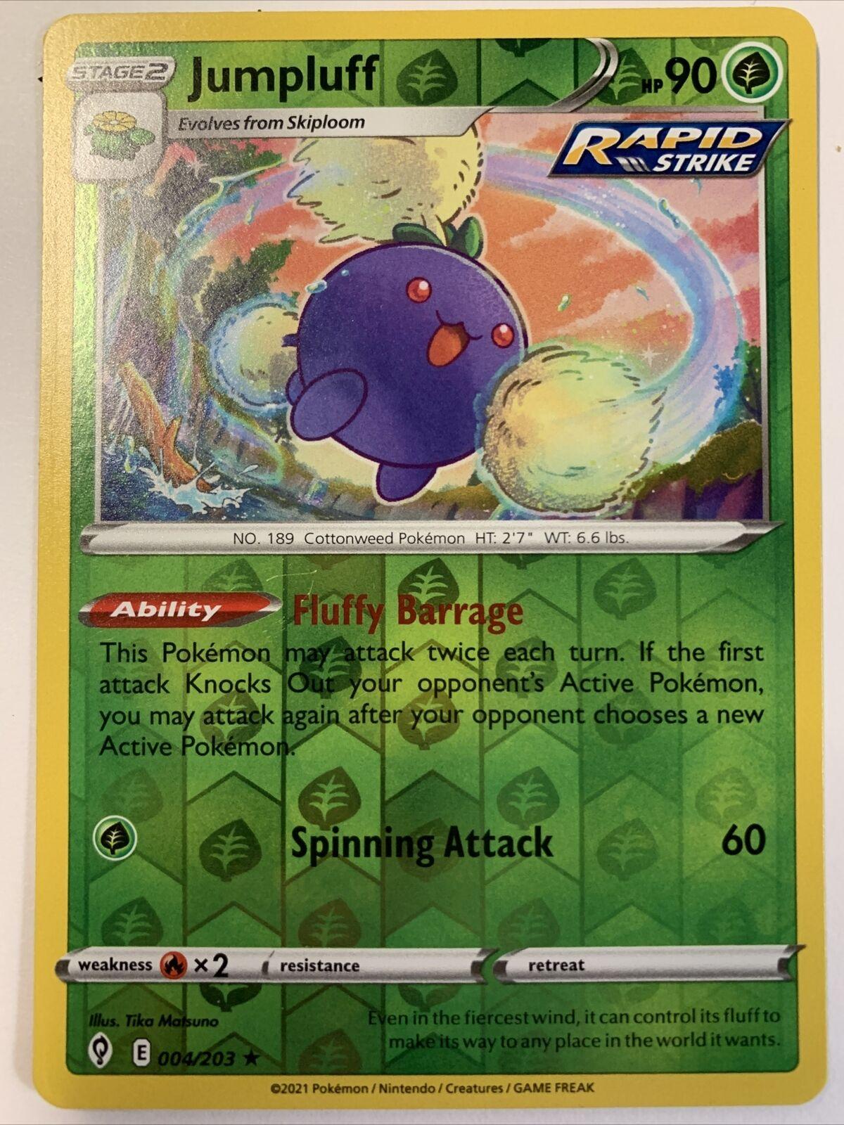 Jumpluff 004/203 Holo Rare Pokemon Evolving Skies