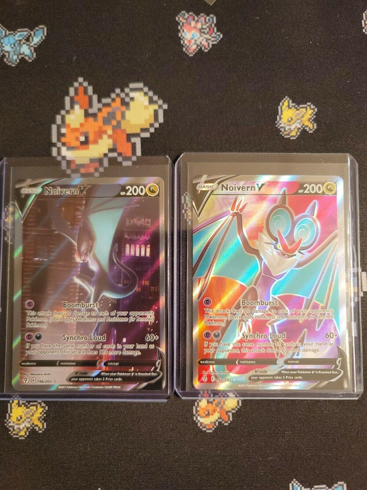 Pokemon Noivern V Evolving Skies 196/203 Alternate Alt + 195/203 Full Art!