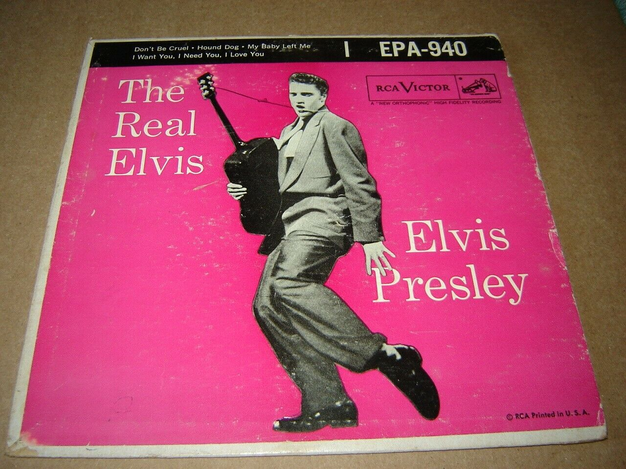 Elvis Presley - The Real Elvis hard PS EPA-940 with Hound Dog 45 8S wrong record