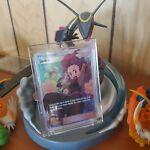 Janine 210/214 Sun & Moon Ultra Rare Full Art Unbroken Bonds Mint with Hard Case