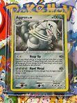 🌀SWIRL Pokemom Card- Aggron 1/123 Holo Mysterious Treasures LP/MP 🌀 - (06)