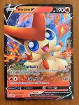 Pokemon TCG Trading Card Victini V 021/163 SWSH Battle Styles