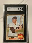 1968 Topps Mickey Mantle SGC 4.5