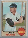 1968 Topps #280 Mickey Mantle Yankees HOF VG