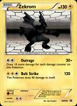 Pokemon Card Zekrom Black Star Promo BW005 PLAYED/ECXELLENT Holo Promo TCG!!!!!!