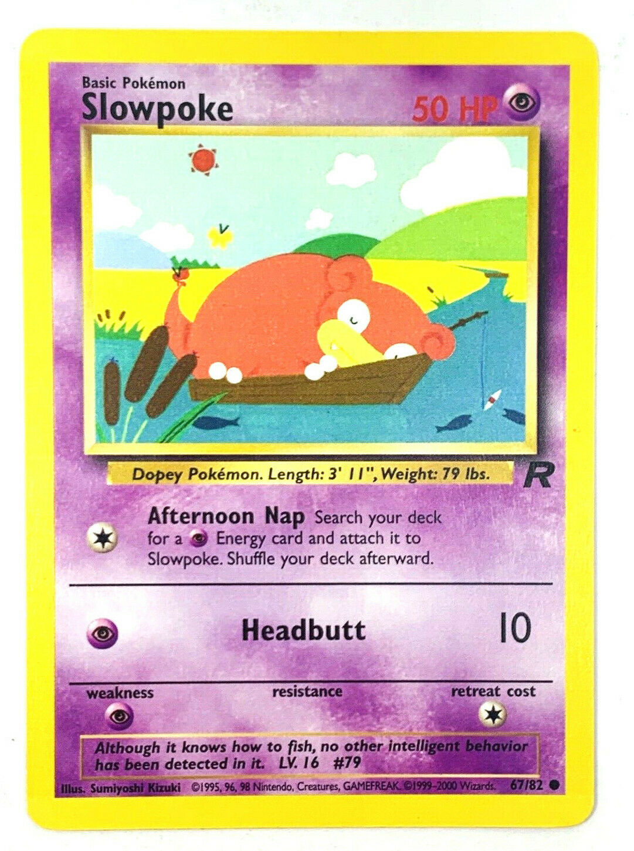 Slowpoke 1st Edition Common Pokemon Card Team Rocket 67//82