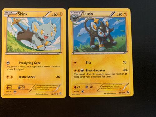 Luxio 33//106 2014 Flashfire Set - NM Uncommon Pokemon Card