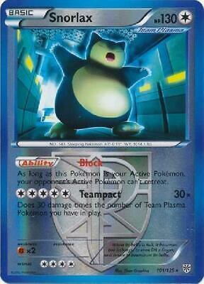 101//135 Rare - Plasma Storm x1 - BW NM-Mint!!! Snorlax