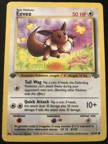 51//64 No.133 Vintage Details about  /Pokemon Card Japanese Jungle Eevee