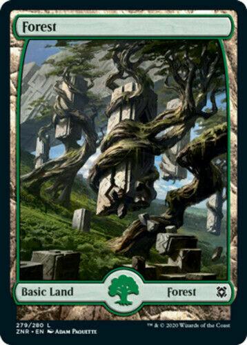 FOIL FOREST 279 X4 Ixalan XLN Magic MTG MINT CARD