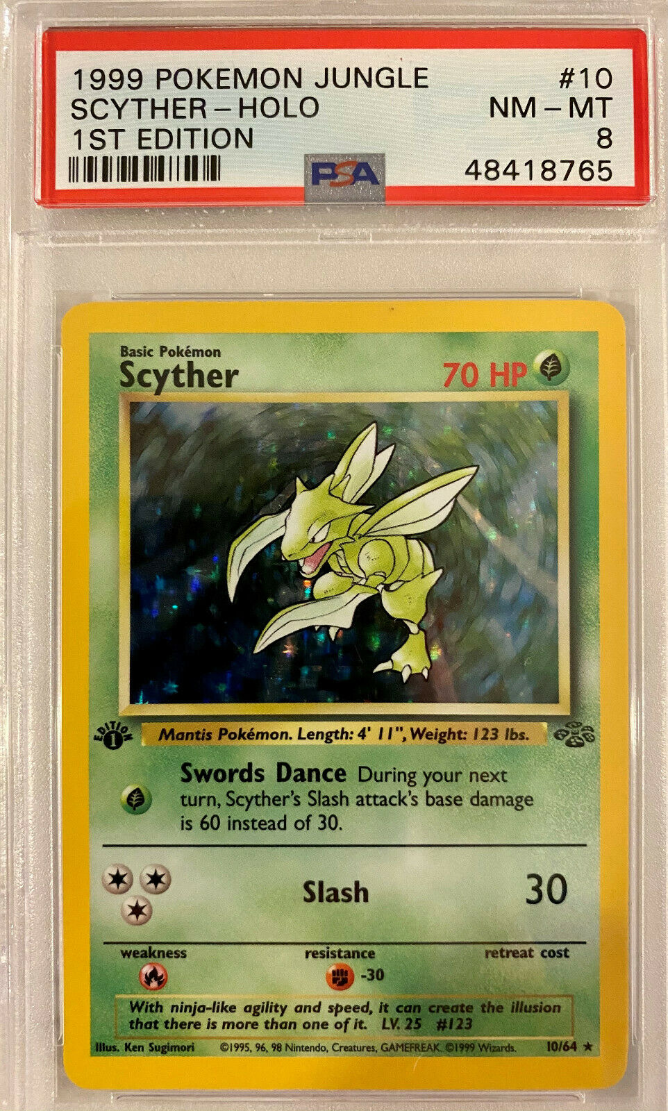 Pokemon CCG Jungle Scyther Holo Foil Rare 10//64 English HP